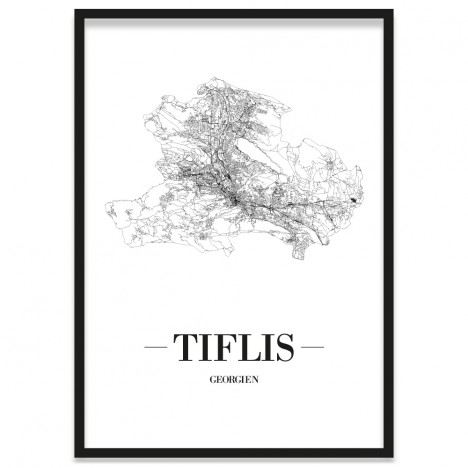 Stadtposter Tiflis Bilderrahmen