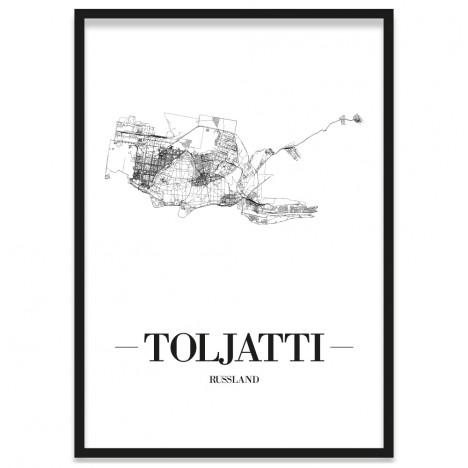 Poster der Stadt Toljatti mit Bilderrahmen