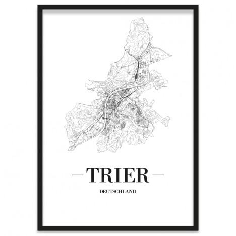 gerahmtes Stadtposter Trier