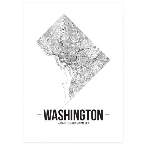 Stadtposter Washington