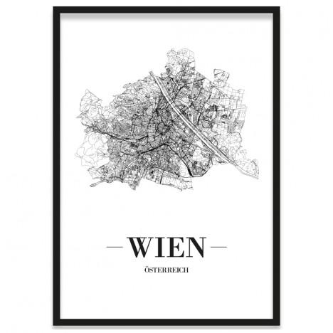 Stadtposter Wien gerahmt