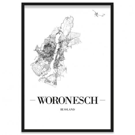 Bilderrahmen Poster Stadtplan
