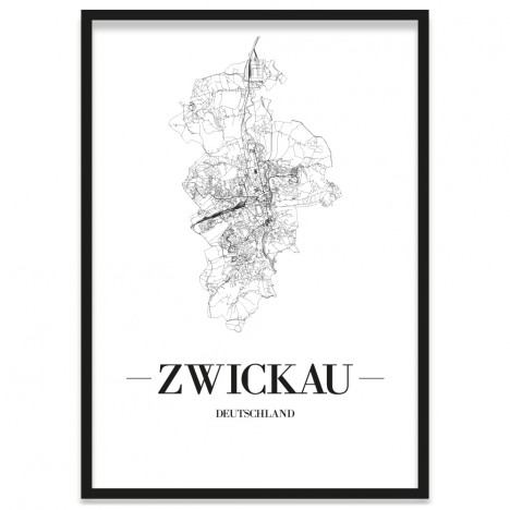 Zwickau Poster mit Rahmen