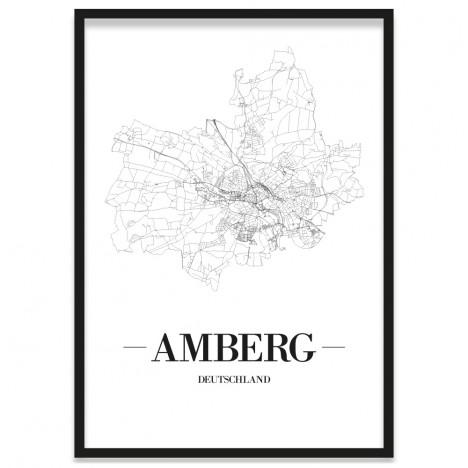 Stadtposter Amberg mit Bilderrahmen