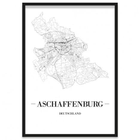 Stadtposter Aschaffenburg Bilderrahmen