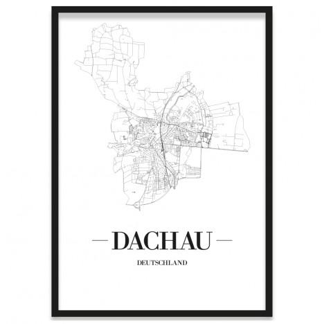 Stadtposter Dachau mit Rahmen