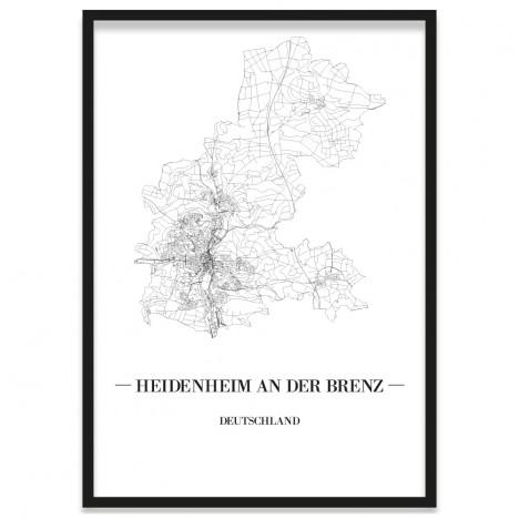 Stadtposter Heidenheim an der Brenz Bilderrahmen