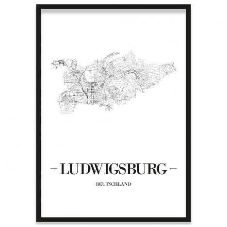 Stadtposter Ludwigsburg gerahmt