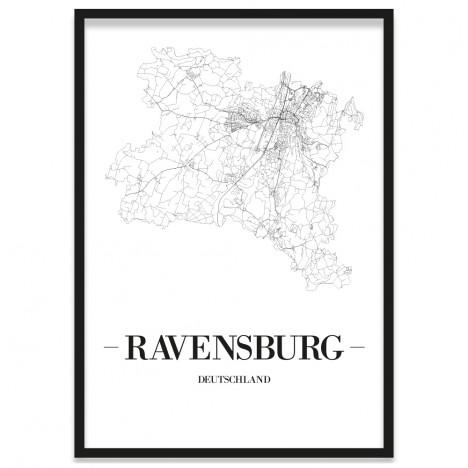 Stadtposter Ravensburg Bilderrahmen