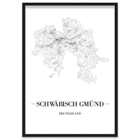 Stadtposter Schwäbisch Gmünd Rahmen