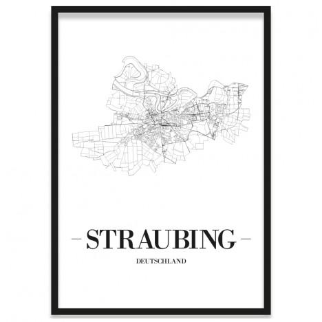 Stadtposter Straubing Rahmen