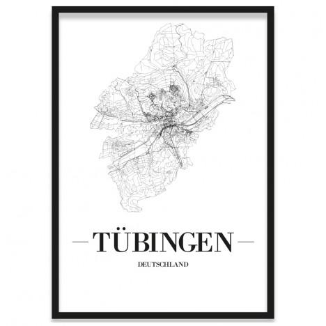 Stadtposter Tübingen Bilderrahmen