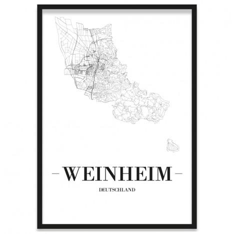Stadtposter Weinheim Bilderrahmen