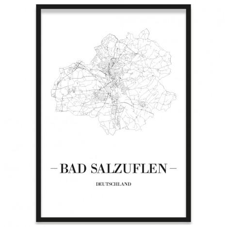 Stadtposter Bad Salzuflen Rahmen
