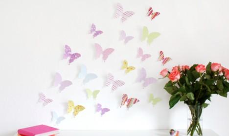 Wandtattoo 3D - Schmetterlinge bunt