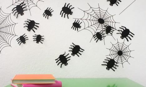 Wandtattoo 3D - Spinnen schwarz