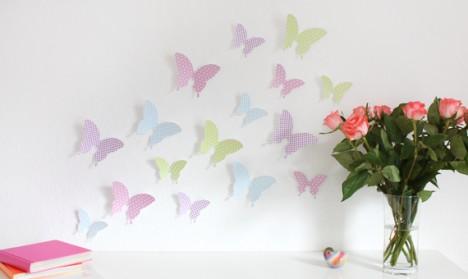 Wandtattoo 3D - Schmetterlinge pastell