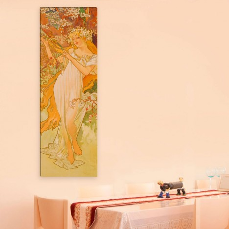 Alfons Mucha Leinwandbild an der Wand