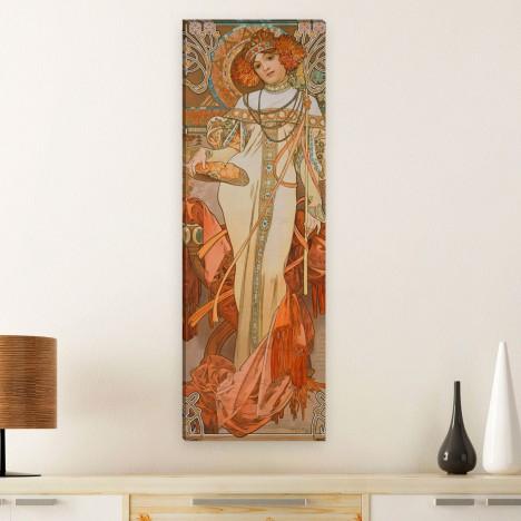 Herbstliches Leinwandbild von Alfons Mucha der Herbst