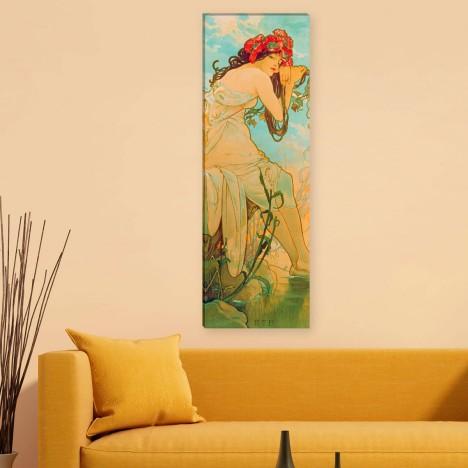 Der Sommer von Alfons Mucha an der Wand