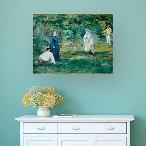 die Croquetpartie von Édouard-Manet als Leinwandbild
