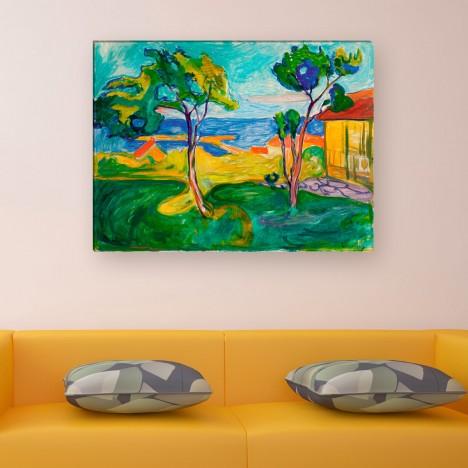 Edvard Munch - der Garten in Asgardstrand