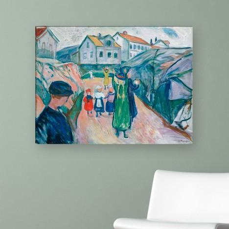 Edvard Munch - Dorfstraße in Kragero