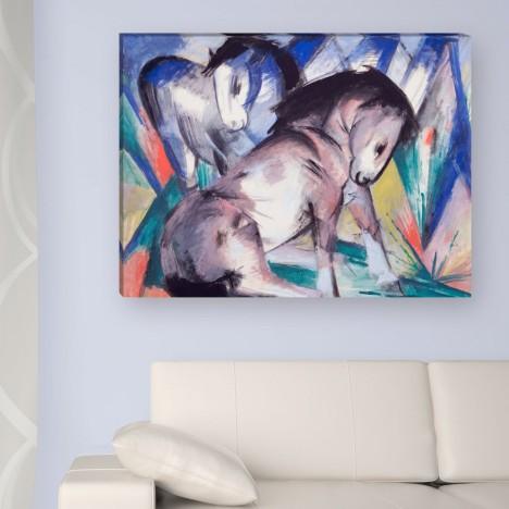 Leinwandbild zwei Pferde zum aufhängen