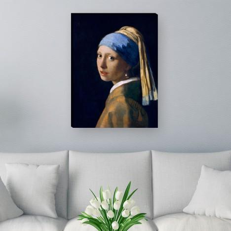 Leinwandbild das Mädchen mit dem Perlenohrgehänge