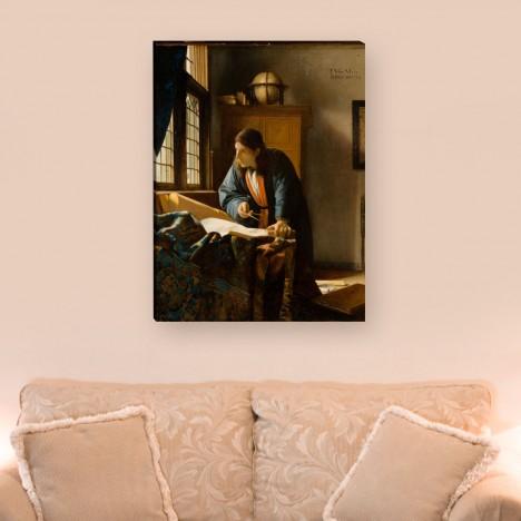 Leinwandbild der Geograph von Jan Vermeer
