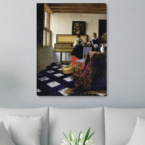 Jan Vermeer - Eine Dame am Virginal mit einem Kavalier