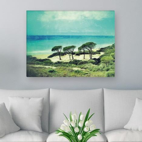 Leinwandbild - Meer - Wasser - Sand - Blauer Himmel