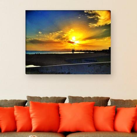 Leinwandbild Meer Sonnenuntergang