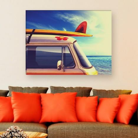 Leinwandbild - Auto - Surf - Surfer - Kalifornien