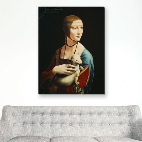 die Dame mit dem Hermelin von Leonardo da Vinci als Leinwandbild