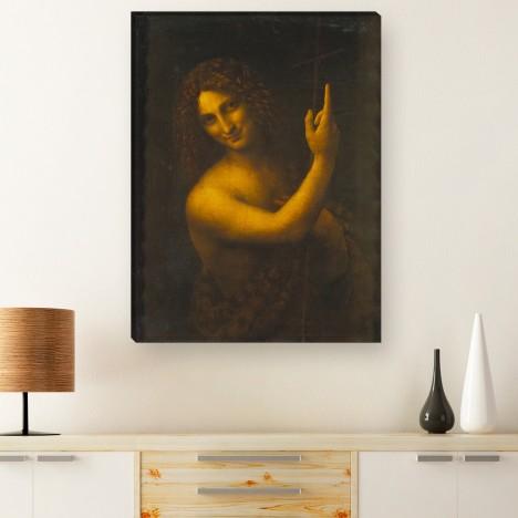 Da Vinci Johannes der Täufer Gemälde auf Leinwand