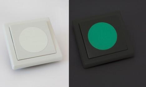 Leuchtaufkleber für Lichtschalter - Punkte