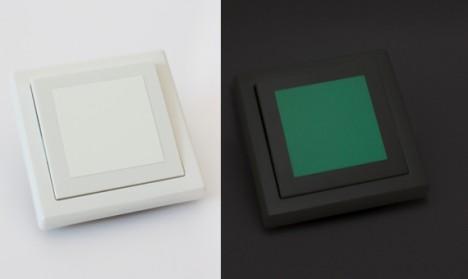 Leuchtaufkleber für Lichtschalter - Quadrate