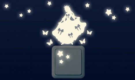 Leuchtaufkleber für Lichtschalter - Prinzessinnen Set