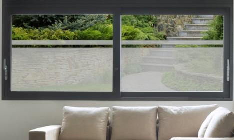 Milchglasfolie für Fenster, Glastüren und Duschen - 120 cm Breite