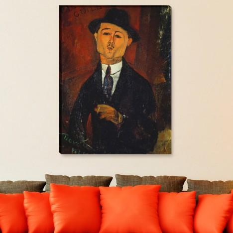 Amedeo Modigliani - Bildnis Paul Guillaume Leinwandbild