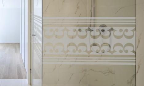 Milchglasfolie - Banner - Arabisches Muster
