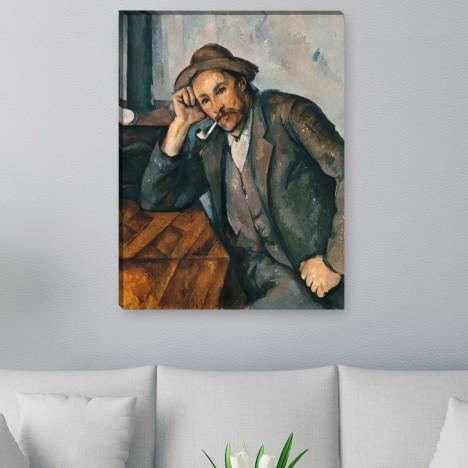 Paul Cézanne - Der Raucher mit aufgestütztem Arm