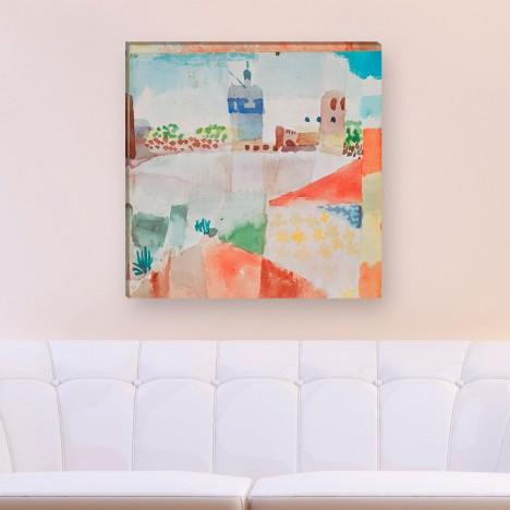 Hammamet Moschee von Paul Klee als Leinwandbild zum aufhängen
