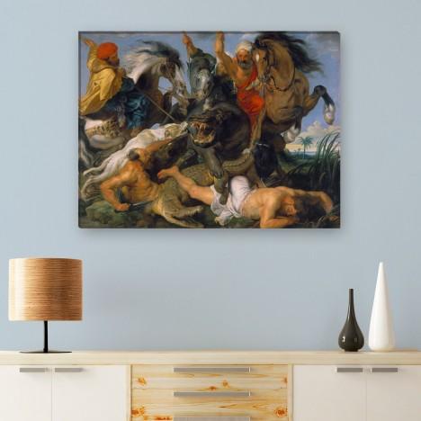 Rubens die Jagd auf Nilpferd und Krokodil