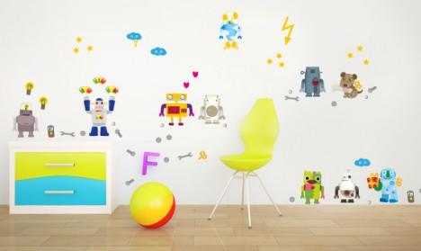 Wandsticker Set XL - Roboter