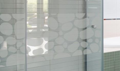Milchglasfolie - Banner - Steinmauer