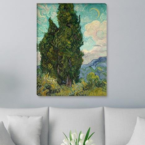 Gemälde - Zypressen