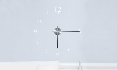 Wandtattoo Uhr - 24 hours