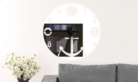 Wandtattoo Uhr Anker